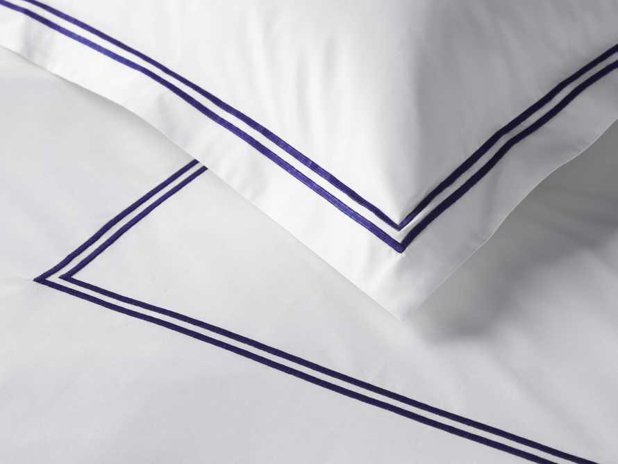Italian Hotel Double-Stitch Queen Duvet in Navy, slide 4 of 6