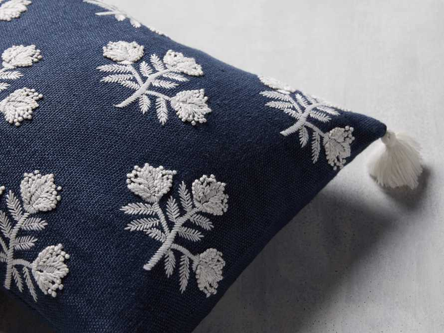 Estee Embroidered Pillow in Navy, slide 4 of 4