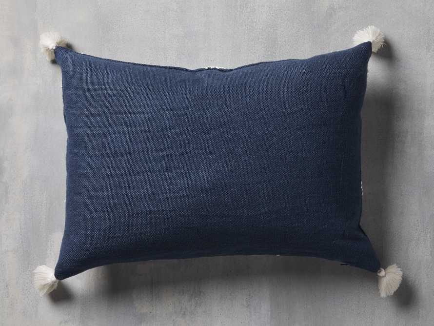 Estee Embroidered Pillow in Navy, slide 3 of 4