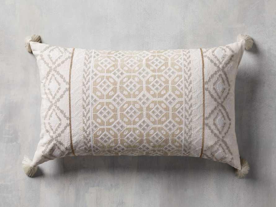 Ivory Fairisle Lumbar Pillow Cover, slide 1 of 5
