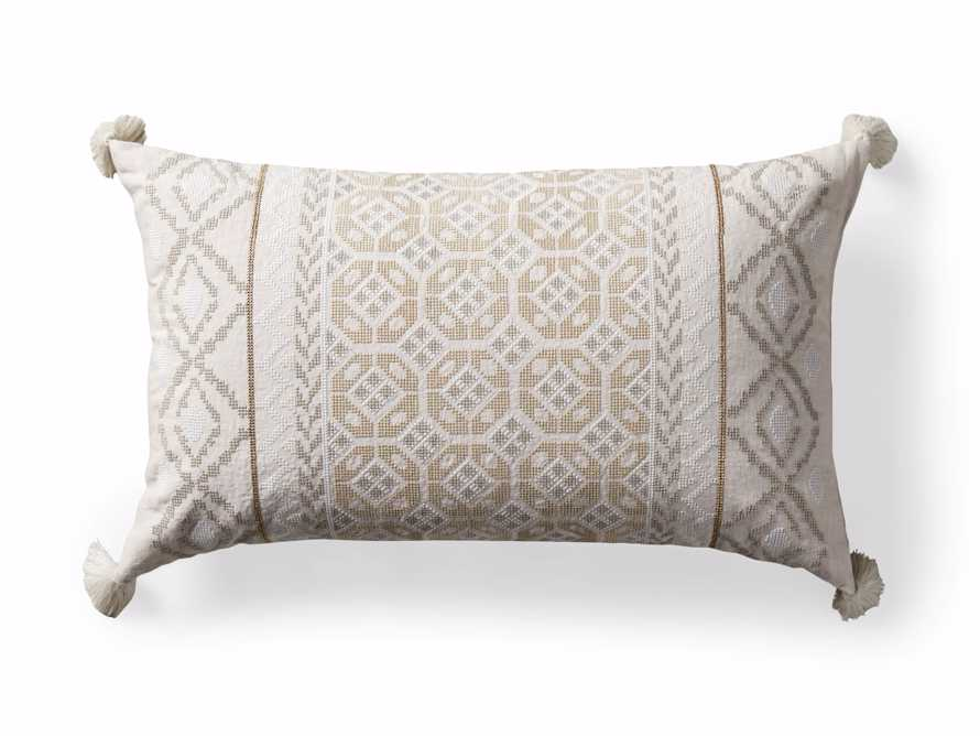 Ivory Fairisle Lumbar Pillow Cover, slide 5 of 5