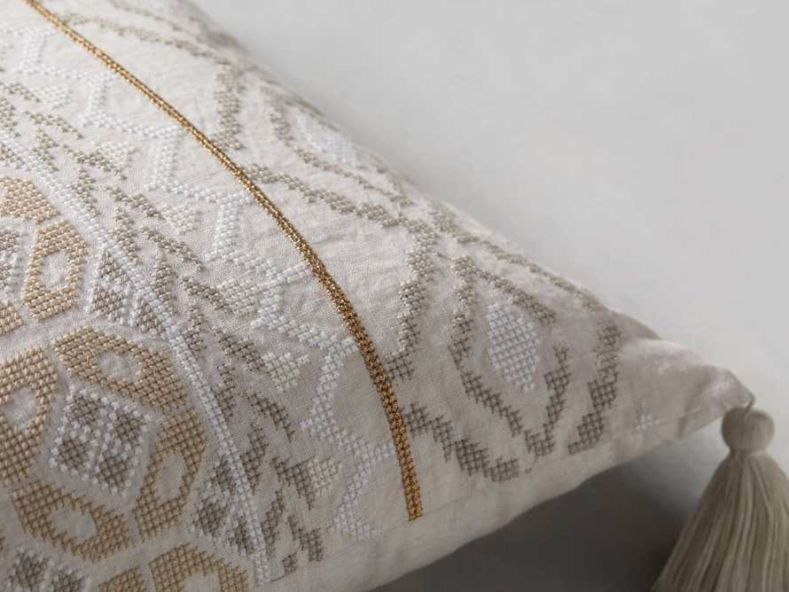 Ivory Fairisle Lumbar Pillow Cover, slide 3 of 5