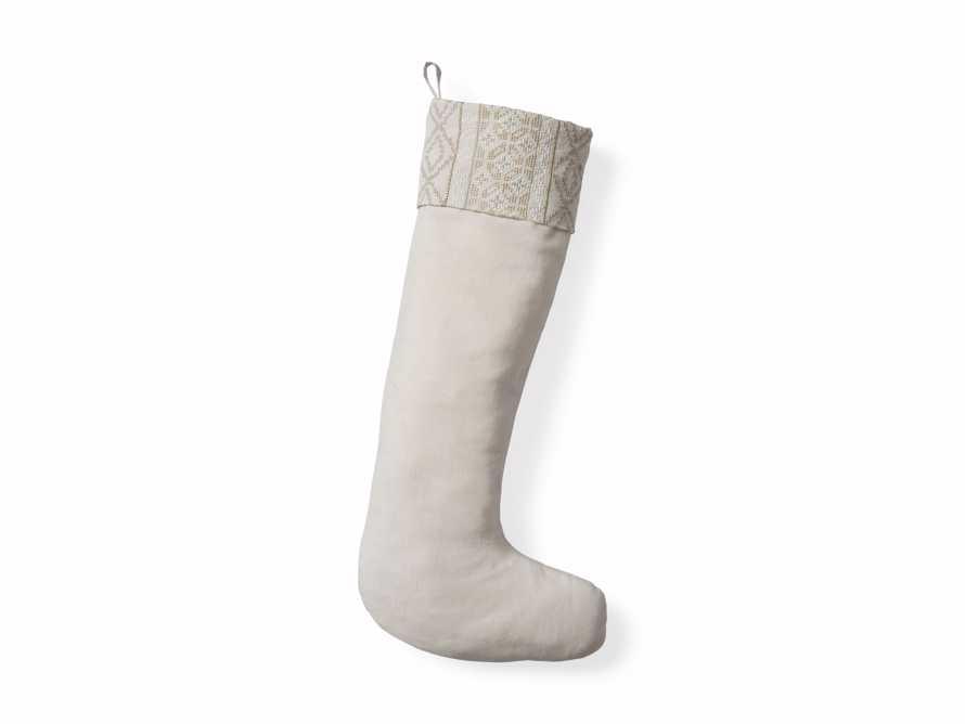 Ivory Fairisle Stocking, slide 4 of 4
