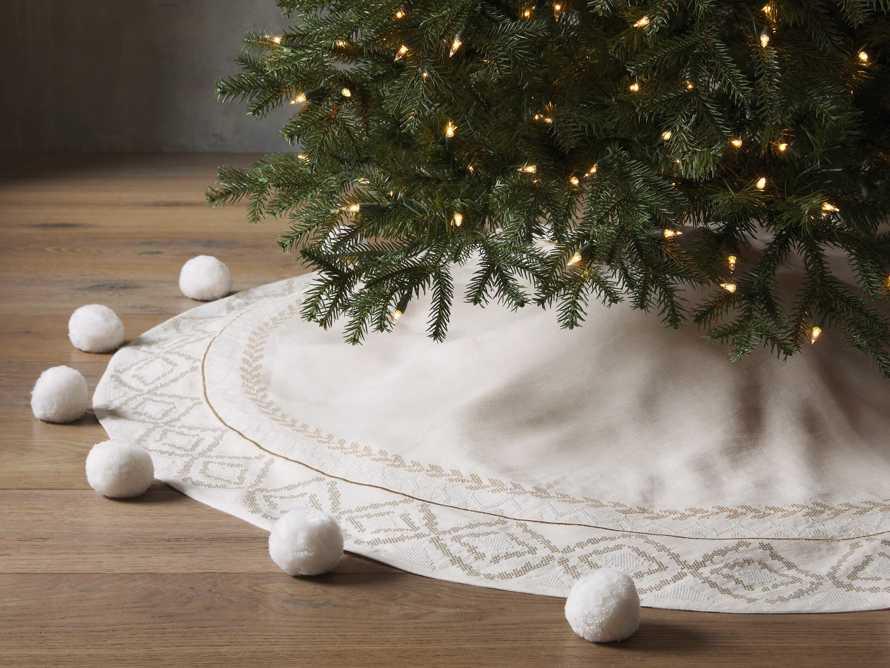 Ivory Fairisle Tree Skirt, slide 1 of 4