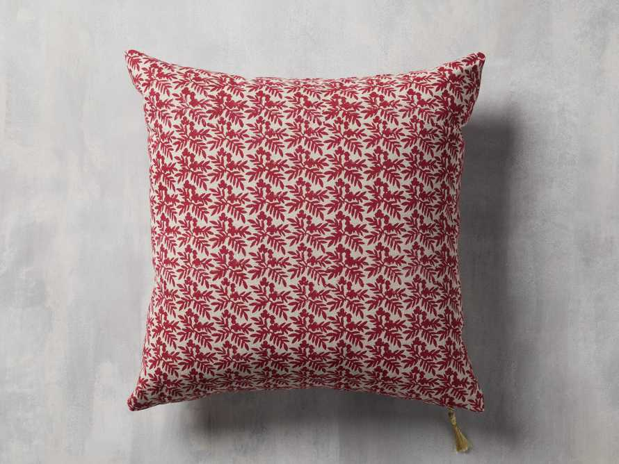 Red Festive Berry Pillow Cover, slide 1 of 4