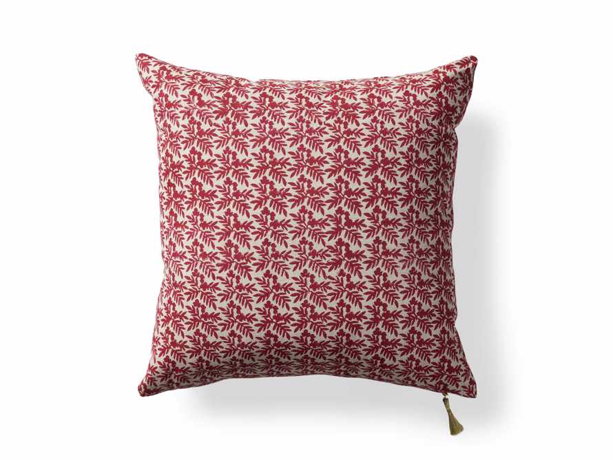 Red Festive Berry Pillow Cover, slide 4 of 4