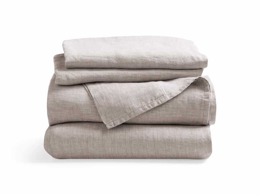 Linen Full Sheet Set in Chambray Flax