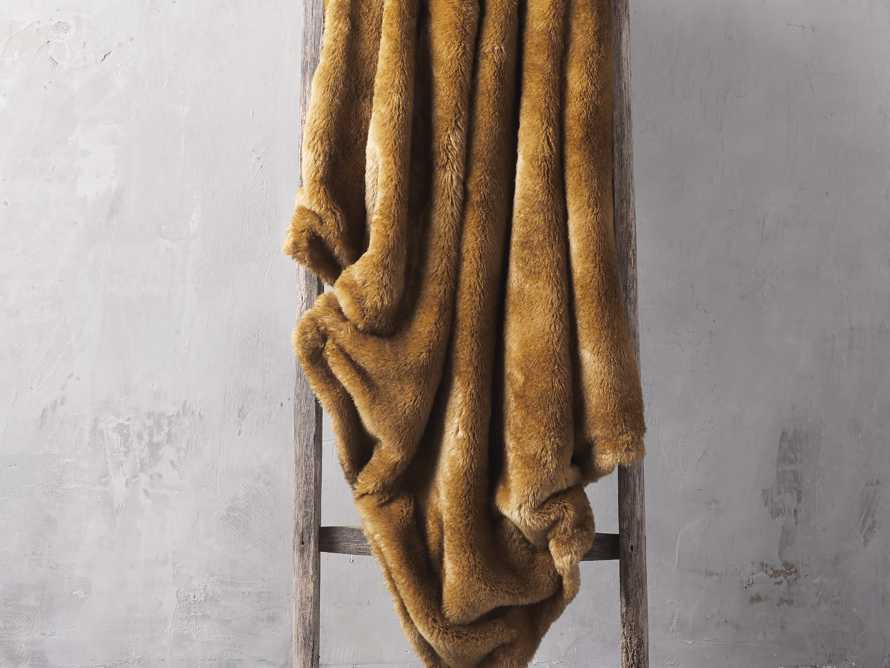 Faux Fur Amber Throw, slide 1 of 3