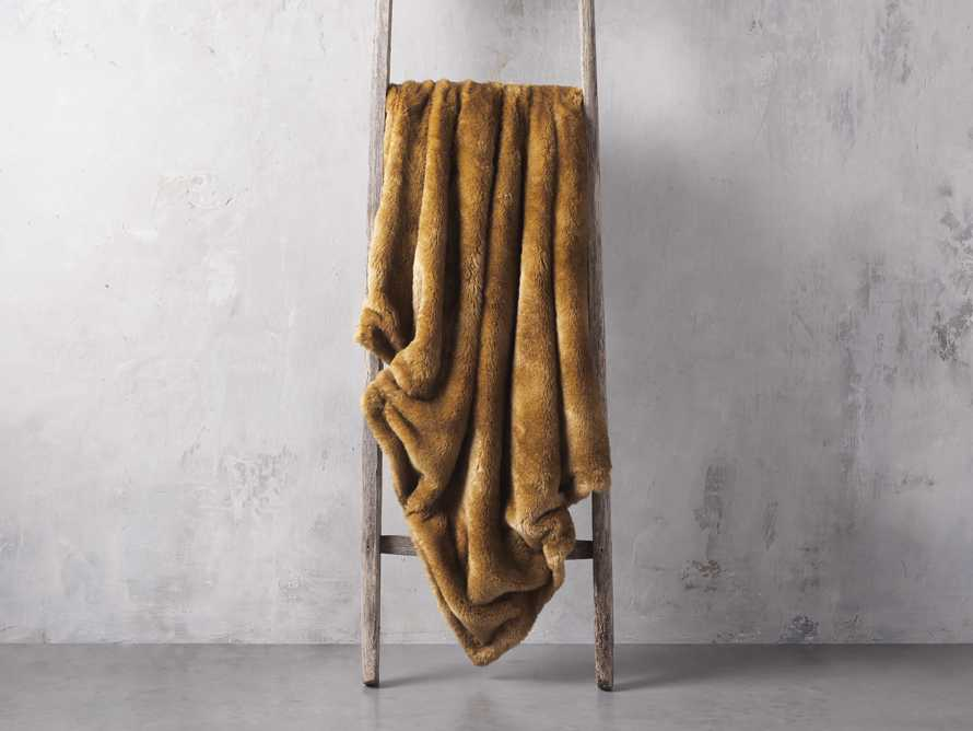Faux Fur Amber Throw, slide 2 of 3