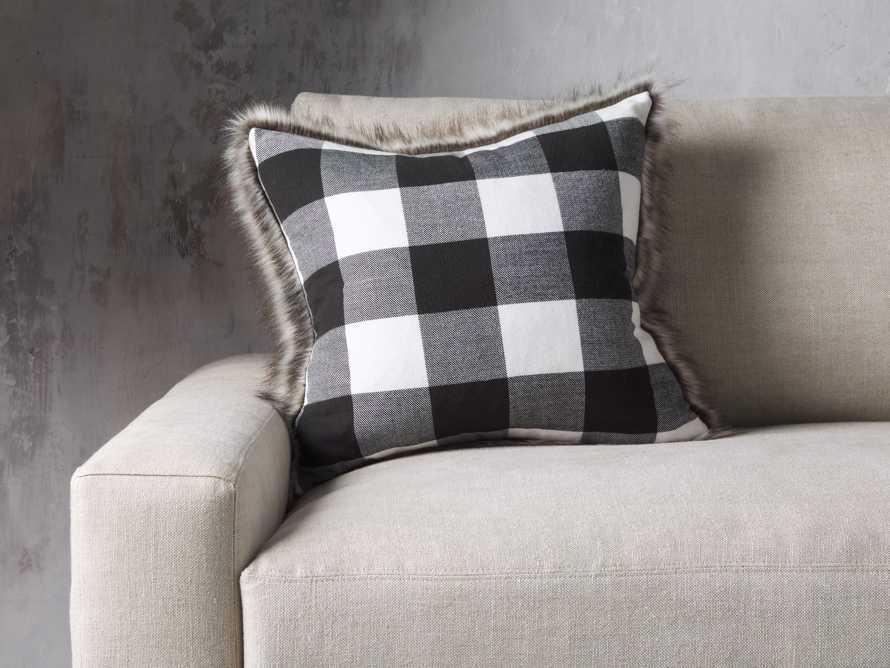 Faux Fur Reversible Buffalo Check Pillow, slide 1 of 4