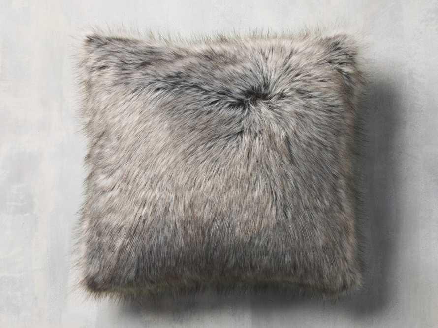 Faux Fur Reversible Buffalo Check Pillow, slide 4 of 4