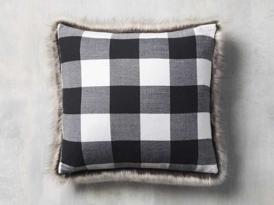 Faux Fur Reversible Buffalo Check Pillow, slide 3 of 4