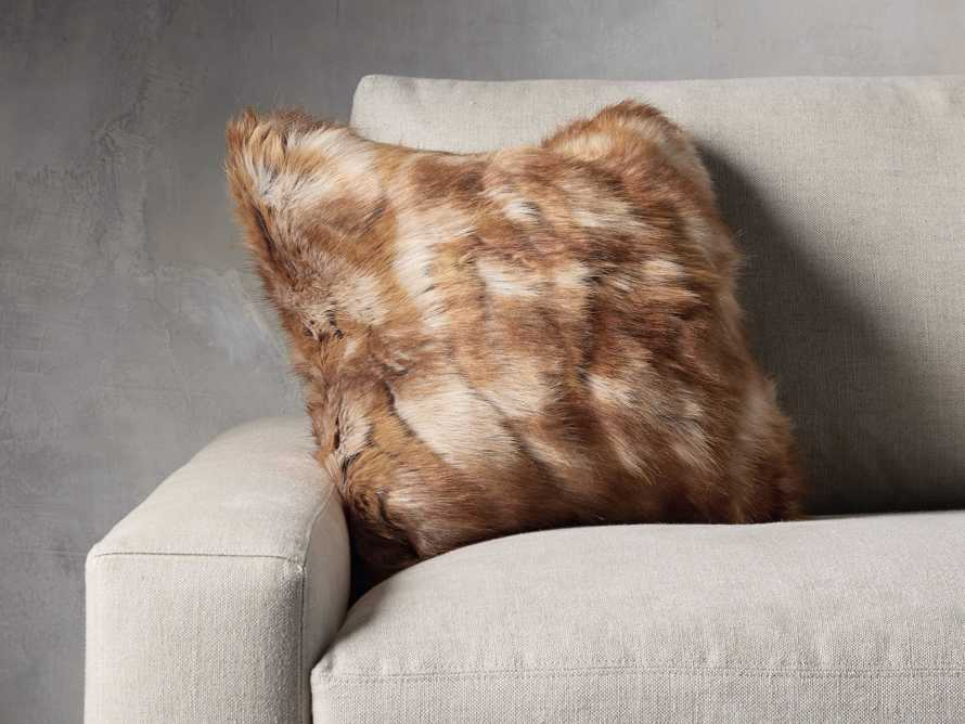 FAUX FUR SQUARE PILLOW COVER IN FOX, slide 3 of 3