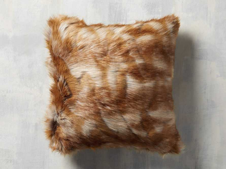 FAUX FUR SQUARE PILLOW COVER IN FOX, slide 1 of 3