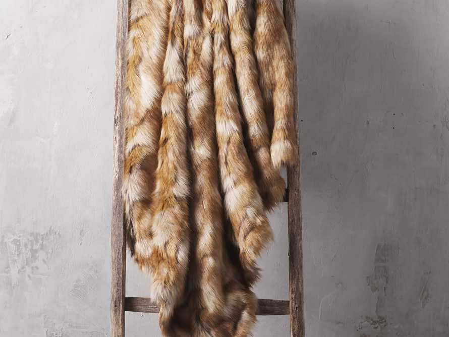 Faux Fox Fur Throw, slide 1 of 3