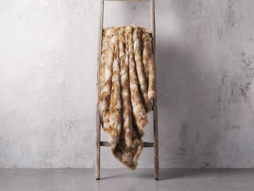 Faux Fox Fur Throw, slide 2 of 3