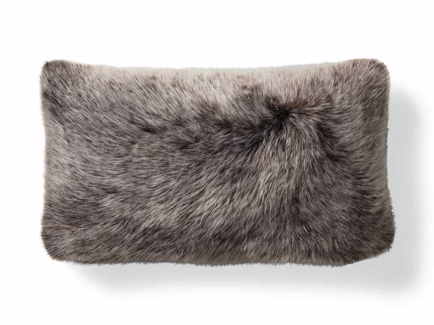Luxe Faux Fur Lumbar Pillow Cover in Brown, slide 4 of 4