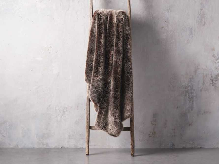 Luxe Faux Fur Brown Throw, slide 2 of 3