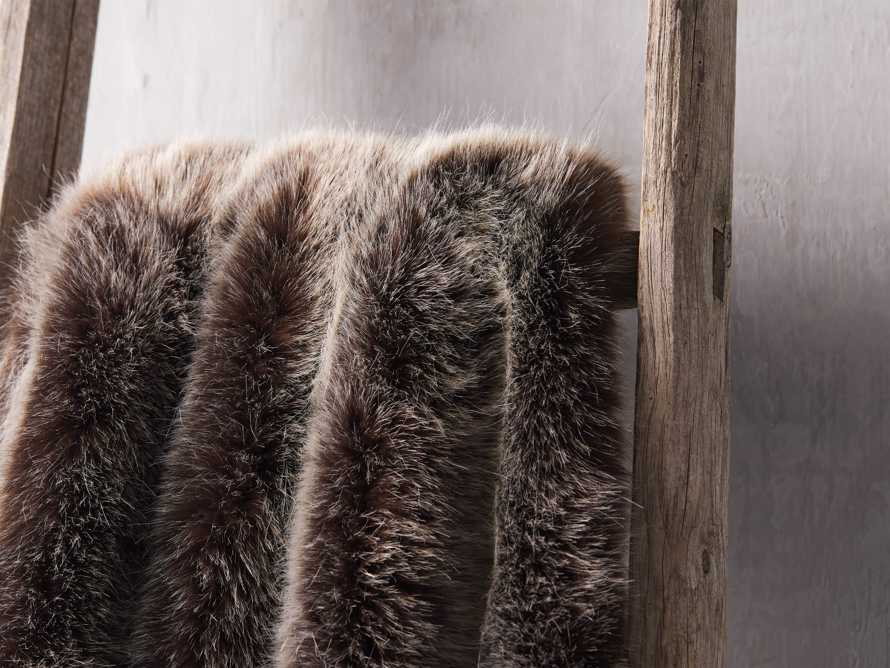 Luxe Faux Fur Brown Throw, slide 3 of 3