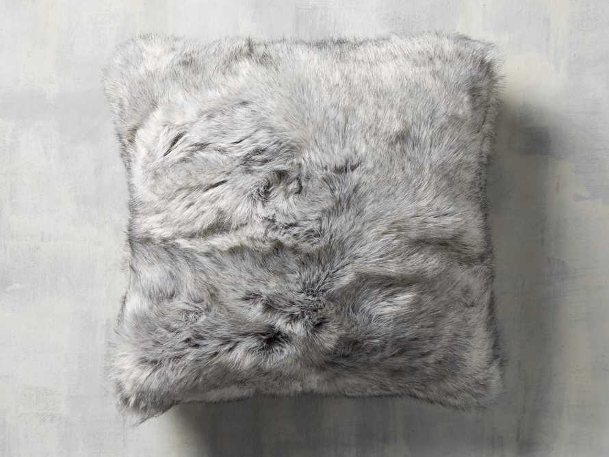 FAUX FUR LUXE SQUARE PILLOW COVER IN GREY, slide 1 of 3