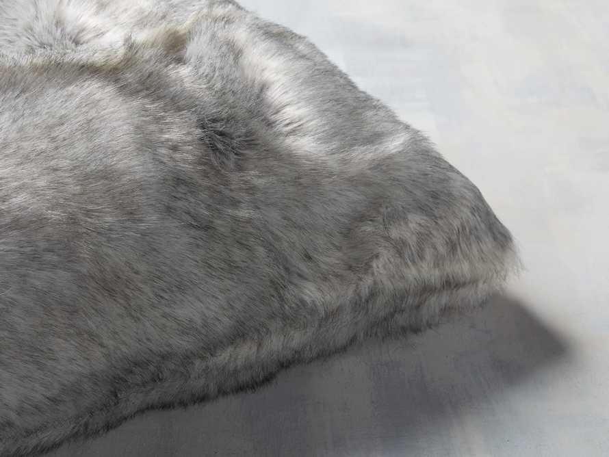 FAUX FUR LUXE SQUARE PILLOW COVER IN GREY, slide 2 of 3