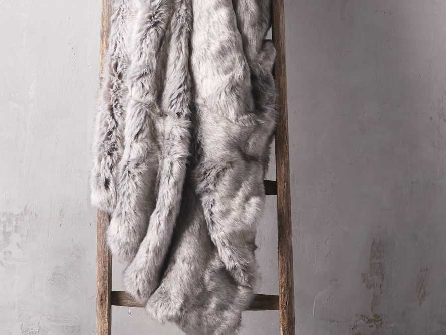 Luxe Faux Fur Grey Throw, slide 1 of 4