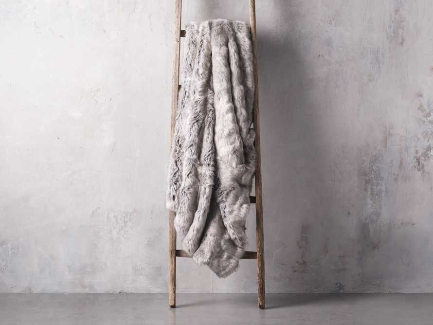 Luxe Faux Fur Grey Throw, slide 2 of 4