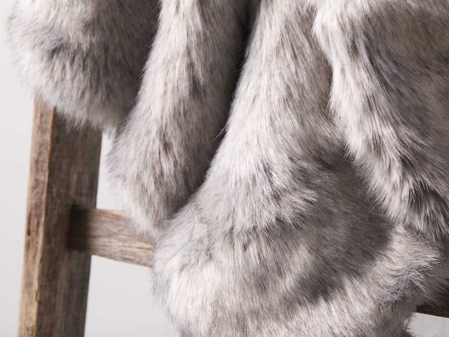 Luxe Faux Fur Grey Throw, slide 3 of 4