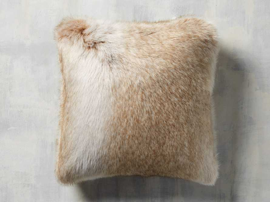 Luxe Faux Fur Natural Pillow, slide 3 of 3