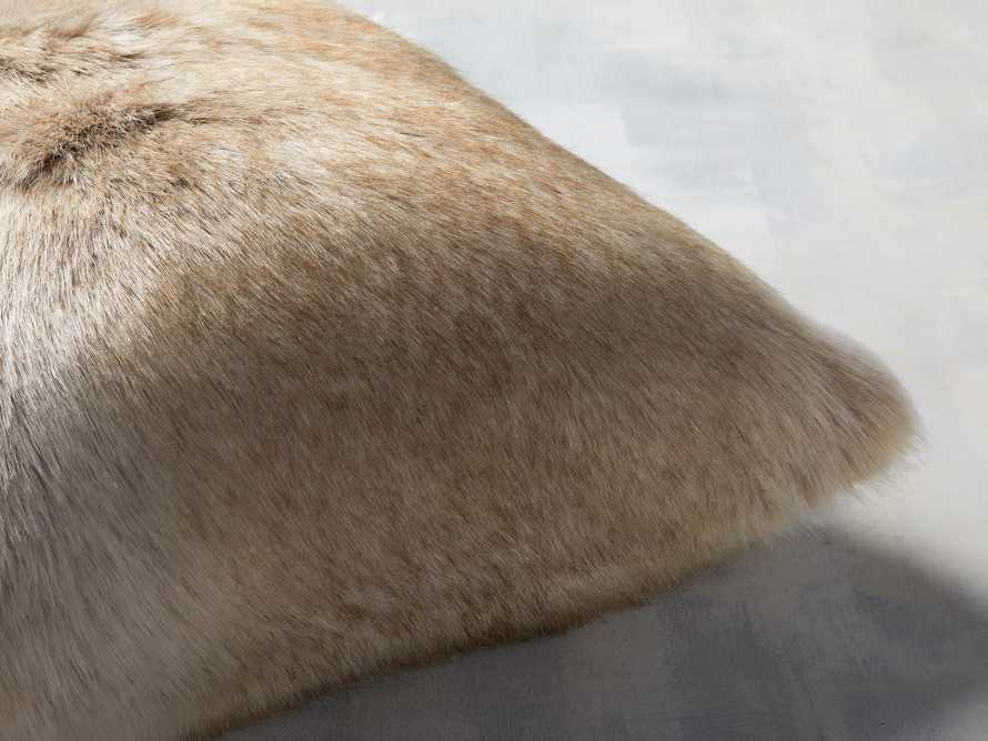 Luxe Faux Fur Natural Pillow, slide 2 of 3