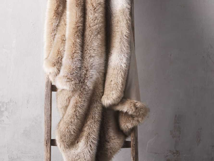 Luxe Faux Fur Natural Throw, slide 1 of 3