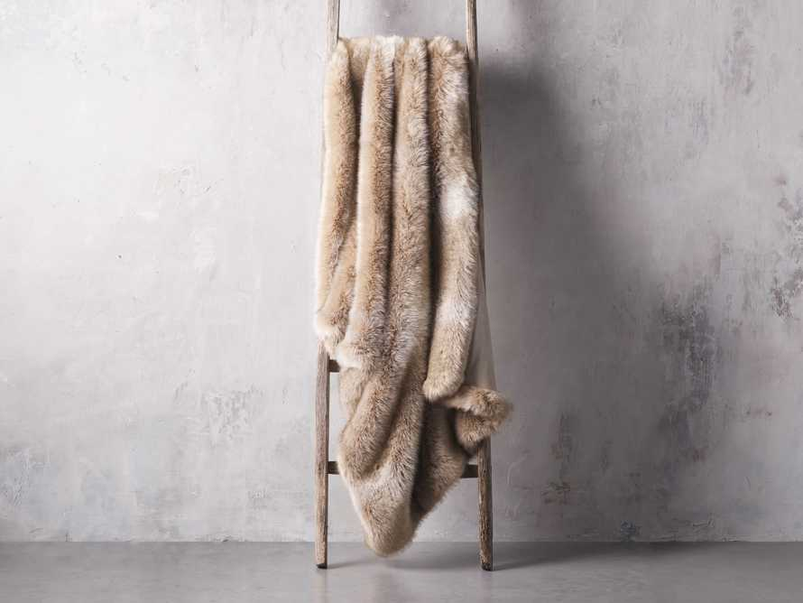 Luxe Faux Fur Natural Throw, slide 2 of 3