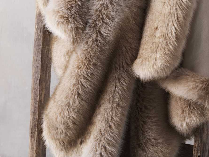 Luxe Faux Fur Natural Throw, slide 3 of 3
