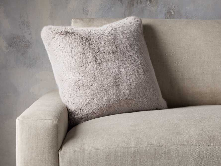 Faux Rabbit Pillow Cover in Grey, slide 3 of 4