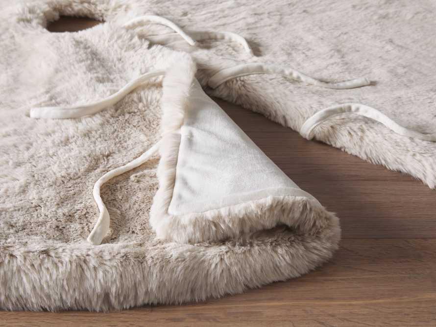 Ivory Faux Fur Rabbit Tree Skirt, slide 3 of 4