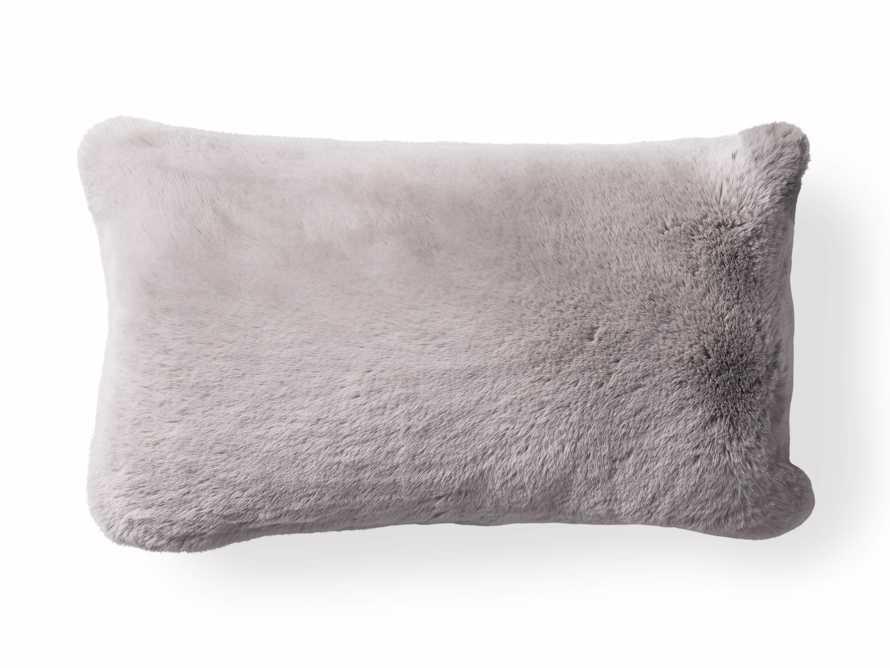 Faux Rabbit Lumbar Pillow Cover in Grey, slide 4 of 4
