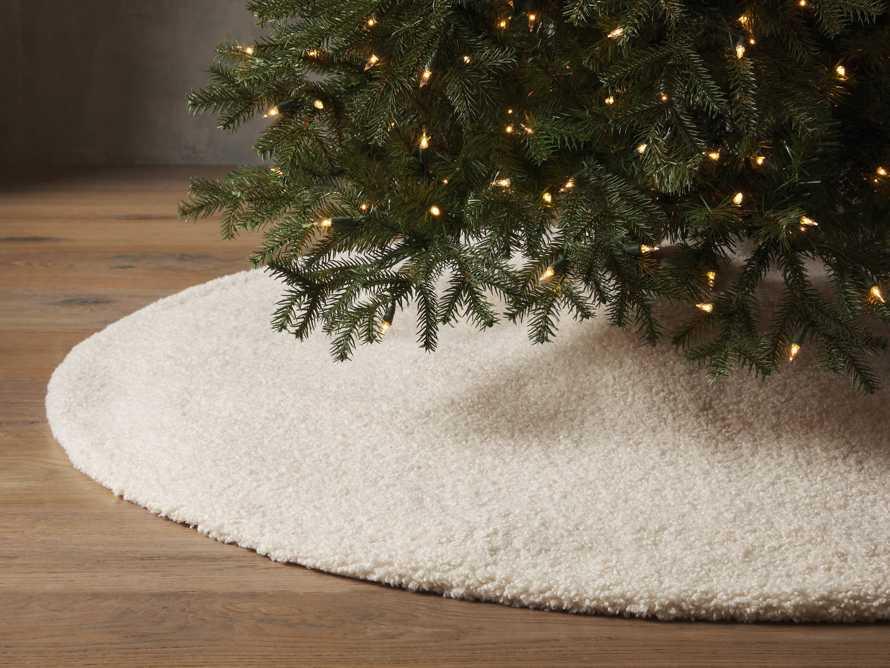 Ivory Faux Sherpa Tree Skirt, slide 1 of 3