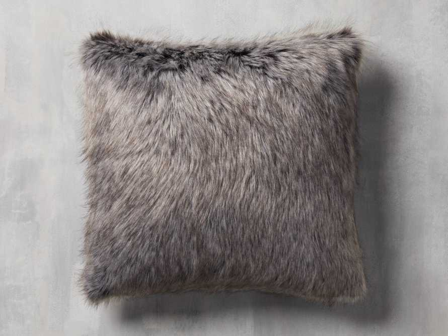 Green Tartan Faux Fur Pillow Cover, slide 2 of 5