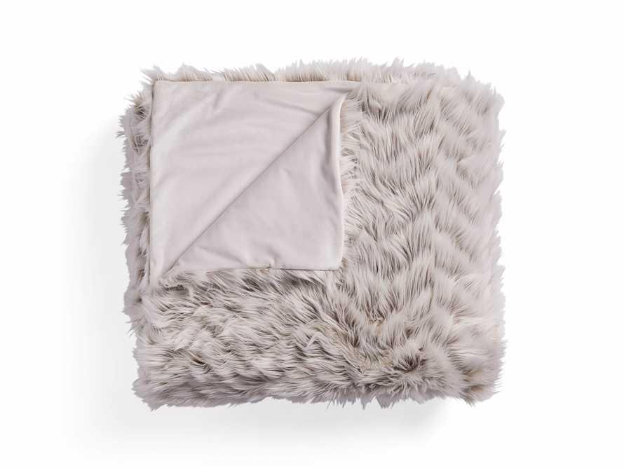 "Faux Fur Chevron 80"" Bed Blanket"