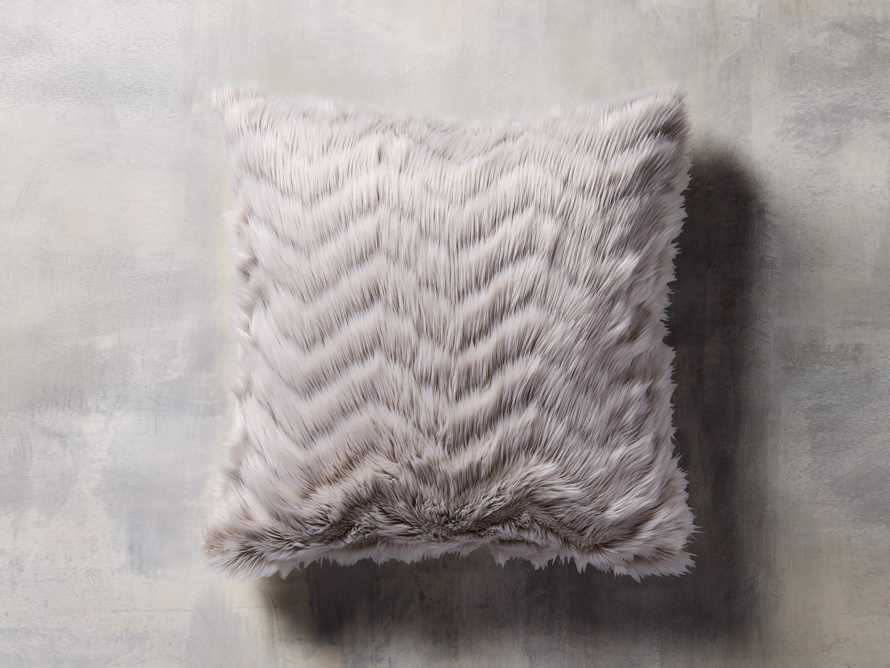 "Faux Fur Chevron 25"" Euro Pillow"