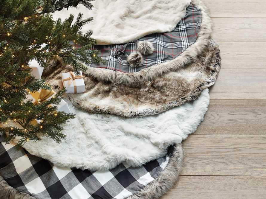 Grey Wolf Faux Fur Tree Skirt, slide 4 of 4