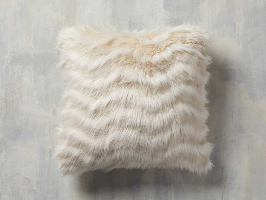 Faux Fur Chevron Pillow in Ivory