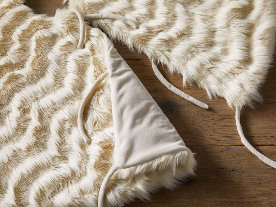 Faux Fur Tree Skirt in Chevron