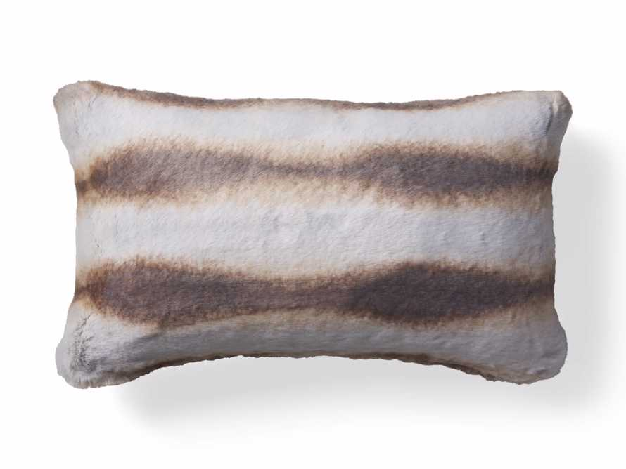 FAUX FUR LUMBAR PILLOW COVER IN CHINCHILLA, slide 4 of 4