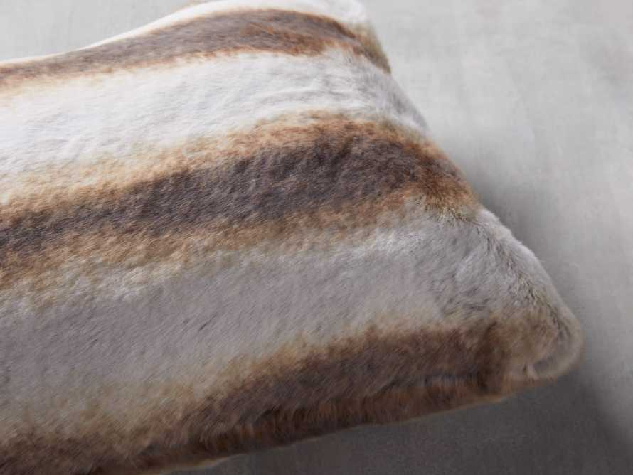 FAUX FUR LUMBAR PILLOW COVER IN CHINCHILLA, slide 2 of 4