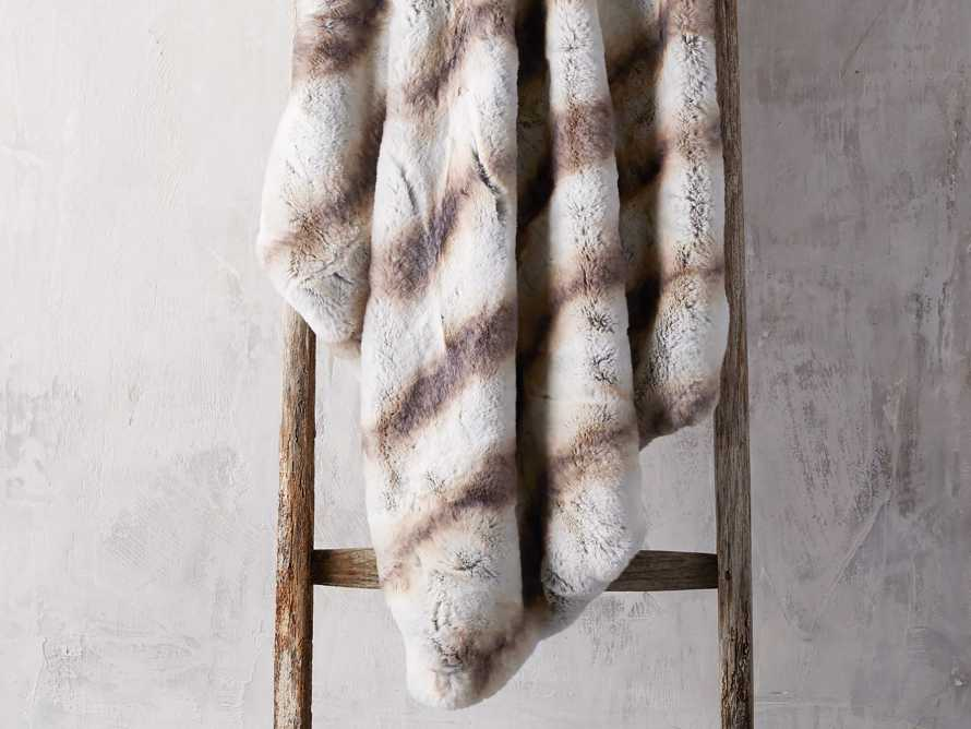 Faux Fur Chinchilla Throw, slide 1 of 6