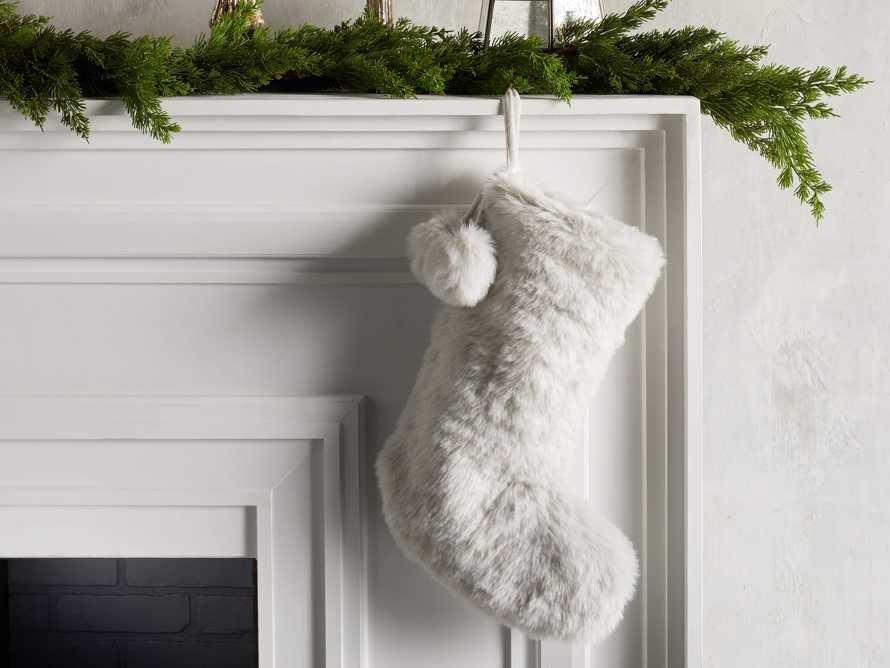 Faux Fur Stocking, slide 1 of 5