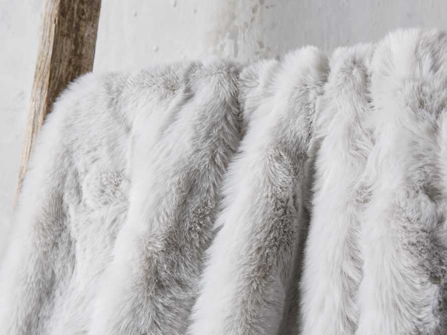 Faux Fur Throw in Light Grey, slide 3 of 4