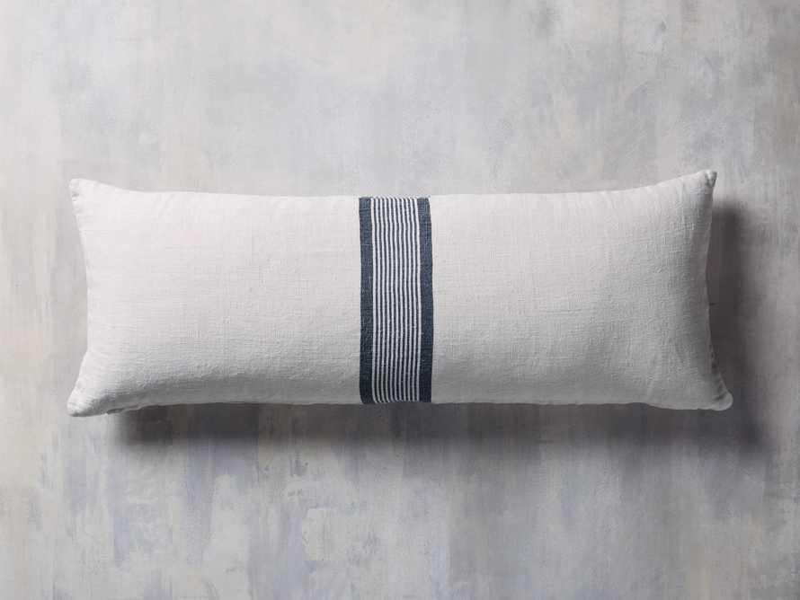 Striped linen Lumbar Pillow