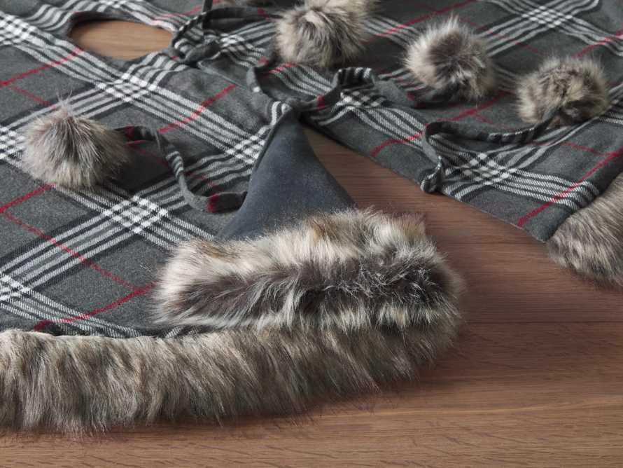 Charcoal Tartan Faux Fur Tree Skirt, slide 3 of 4